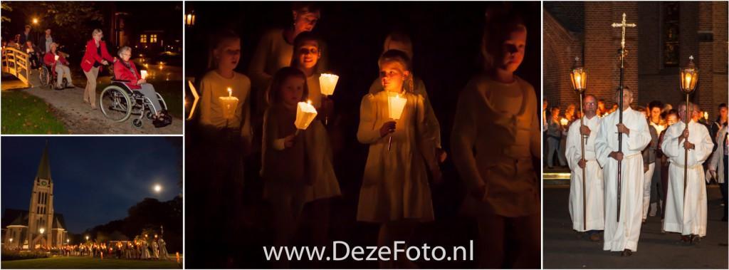 De bruidjes ontbraken niet tijdens deze sfeervolle lichtprocessie in Saasveld