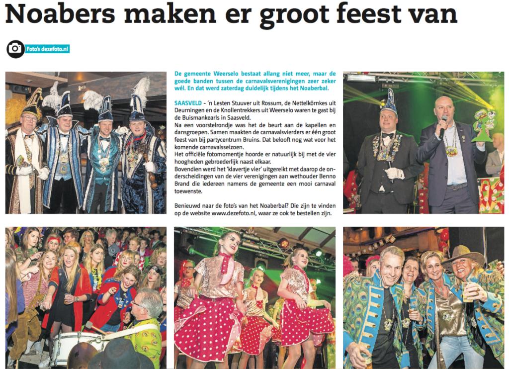 Noabers maken er groot feest van! Bron: De Weekkrant NoordOost-Twente, Foto's: DezeFoto.nl